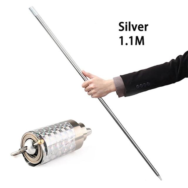 110cm/150cm Portable Self defense Telescopic Rod Martial Arts Metal Magic Pocket Outdoor Car Anti-wolf Steel Wand Elastic Stick 4