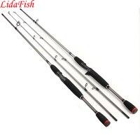 Lidafish 6-15lb линии Вес M Мощность литья приманки Удочки спиннинг Hard Rock углерода телескопическая Рыбалка полюс 1.8 м