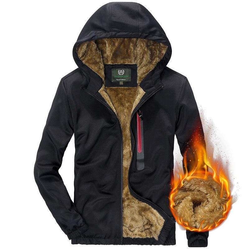 VÊTEMENTS 2018 Hiver Casual Hommes Hoodies Sweats À Capuche En Molleton de Coton Cardigan Asie Taille Hoodies Manches Longues Vêtements Chaud