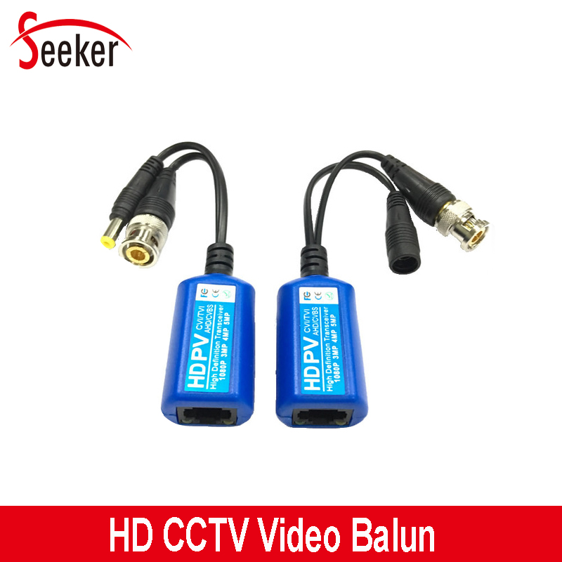 50pairs/lot  CCTV UTP  Passive Transceivers Video Balun BNC Connectors For 2MP 3MP 4MP HDTVI CVI AHD CVBS Cameras System