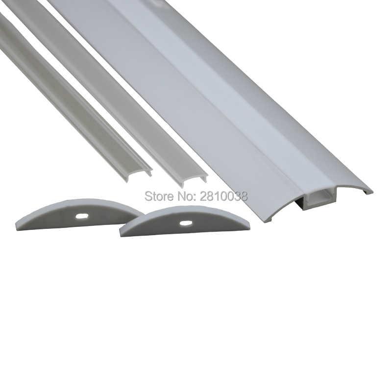10X1 м наборы/лот плоский анодированный алюминиевый профиль Led AL6063 светодиодный светильник алюминиевый канал для кухонного шкафа светильник s
