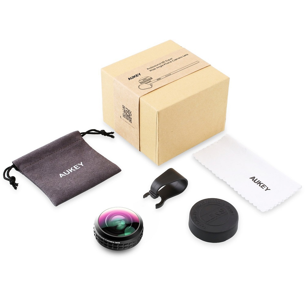 AUKEY Optic Pro Lens Super Wide Angle 238 Degree High Clarity telefon kamera lensi Camera Lens Kit for iPhone Android Smartphone 11