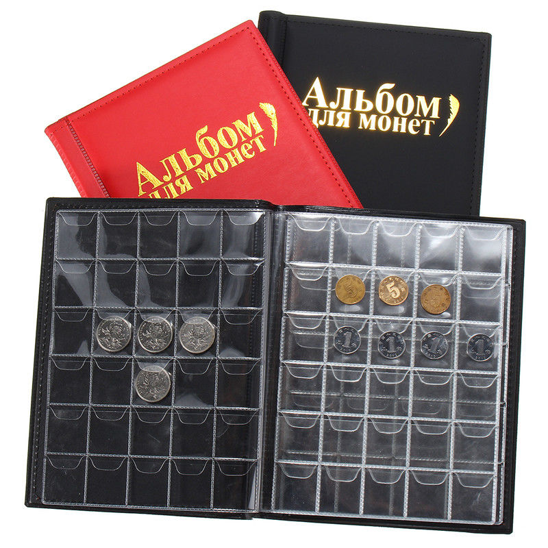 NEW 250 Coin Holder Collection Storage Collecting Money Penny Pockets Album Book Home Storage Bags Coin Organization