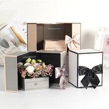 Картонный Ящик Цветочная Коробка Букет роз Цветочная коробка для упаковки подарка свадебный подарок на день Святого Валентина упаковочные принадлежности