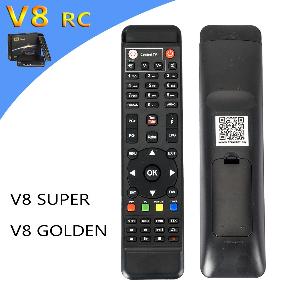 Genuine Remote Control For FreeSat V8 Super & V8 Golden DVB-S2 DVB-T2 DVB-C IPTV Sat To IP Free sat Box genuine 2 boxes tien nutrient super calcium tien s super calcium