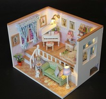 DIY House Wooden Assemble Model For Child Family Friend Creative Gift Dollhouse Decoration Cozy Cottage