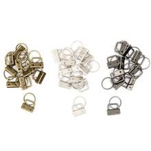 10 шт. ключ 25 мм Брелок Сплит кольцо брелок оборудование для наручных браслетов хлопок хвост клип