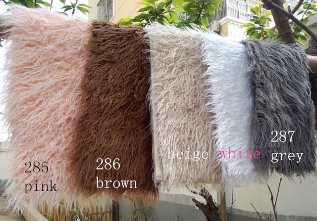 (150*100cm) Faux Fur Blanket Basket Stuffer Mongolia Fur Photography Props Newborn Photography Props