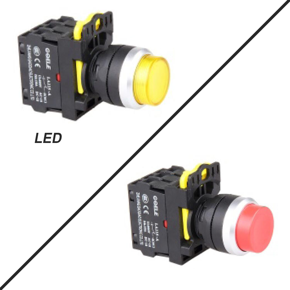 5 PCS Push button switch Industrial switch 220V Latching OR Momentary Waterproof High Round IP65 1NO 1NC 2NO 2NC 6 colors 15a 250vac v 15 1c25 push button spdt 1no 1nc micro switch 10pcs