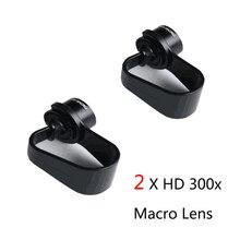 2 X Professional Universal 300x HD Macro Lens for Samsung galaxy s6 s7 edge Micr