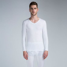 Long johns men modal thin thermal underwear Set V neck elastic XL to 6XL very plus large size