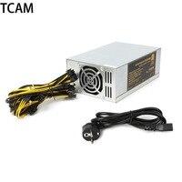 TCAM 1800W Power Supply 6PIN 11 APW3 12 1600 ETH PSU EU Plug For Antminer S9