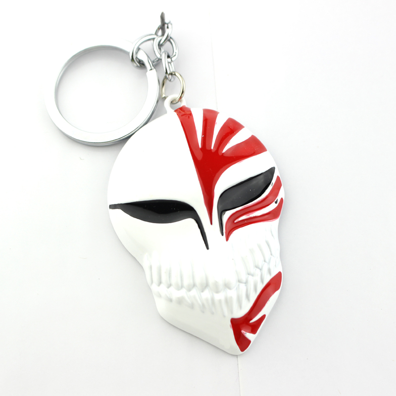 Wholesale 20pcs Hot Sale New Fashion Anime Jewelry The Death Mask Key Chains Black&Red Colors Alloy Keyrings Trinket Souvenvirs