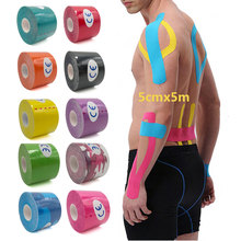 Athletic Muscle Sticker Kinesiology Tape Elastic Adhesive Muscle Bandage Care Physio Strain Injury Support 5cmX5m C 5cm x 5m sports kinesio muscle tape kinesiology tape cotton elastic adhesive muscle bandage care physio strain injury support