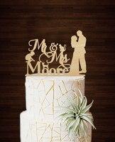 סגנון רומנטי אישית טופו דה Casamento חתונת דקור משפחת בולה Toppers עוגת חתונה טובה ומתנות רטרו חמוד