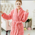 Coral Fleece Couples Bathrobes Thickening Flannel Bath Robe Women Men Warm Bathrobe Kimono Dressing Gown Bridesmaid Robes Female
