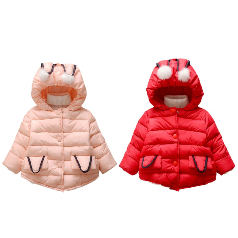 Autumn Winter New Baby Girls Clothes Long Sleeves Solid Hooded Bay Girl Coat Soft Comfortable Infant Girl Clothes