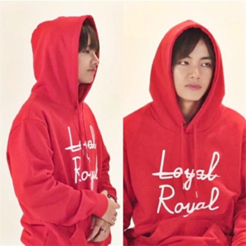 Kpop BTS Bangtan Boys V VAPP misma tapa con capucha canción Folk Leal Real otoño Unisex traje de Sudadera con capucha de manga larga outerwears abrigo