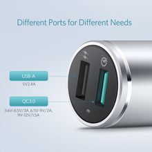 Ugreen Car Charger 2 Port 18W Quick Charge