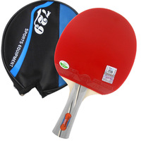 RITC 729 2060# Pips In Table Tennis Ping Pong Racket + a Paddle Bag 7 LAYERS Table Tennis Blade for PingPong Racket