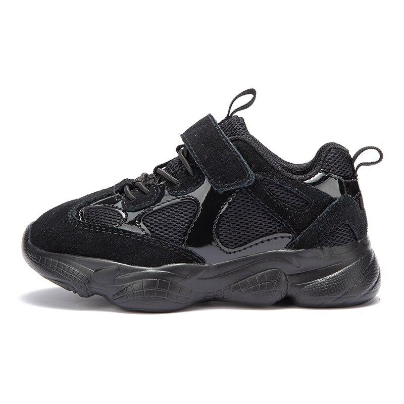 HOBIBEAR garçon fille sneaker respirant maille chaussures de sport chaussures de course extérieur blanc noir rose gris