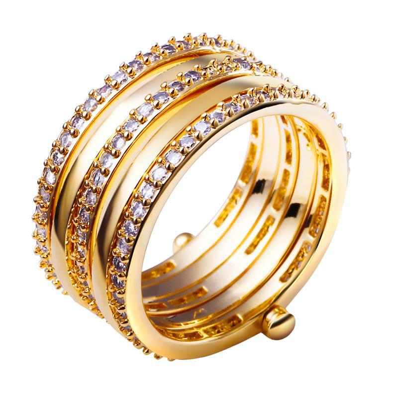 Big rings for women New arrival product 2015 Fine jewelry 18k gold