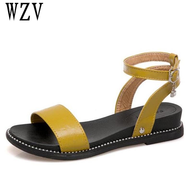 2018 New Hot Sale Sandals Women Summer buckles Shoes Peep-toe thick bottom Flat Shoes Roman Sandals Mujer Sandalias Ladies B627 hot sale women sandals women summer shoes peep toe flat shoes roman sandals mujer sandalias ladies flip flops sandal footwear