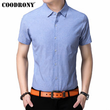 COODRONY Men Shirt 2019 Spring Summer New Arrivals Business Casual Streetwear Slim Fit Short Sleeve Mens Shirts S96046