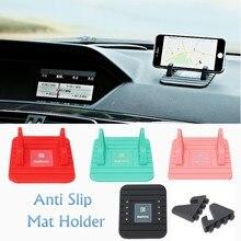 Универсальная Мягкая Силиконовые Автомобильный Держатель Телефона для Iphone 6 Sumsung Remax Анти Мат Держатель Настольная Подставка Кронштейн для GPS