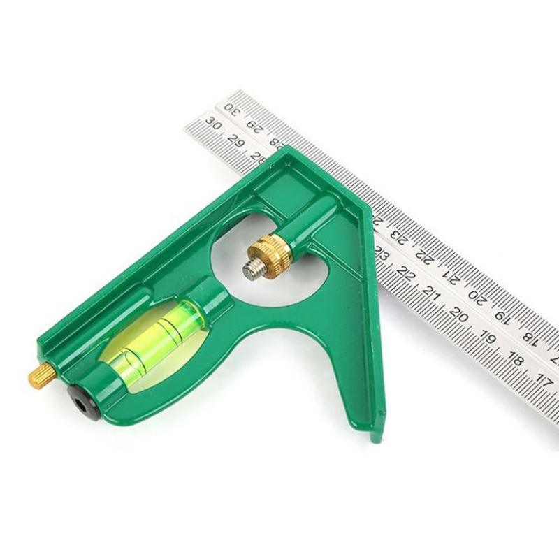 Adjustable Engineers Combination Try Square Set Right Angle Ruler Steel Rule Multi-functional Measuring Tools Accessories
