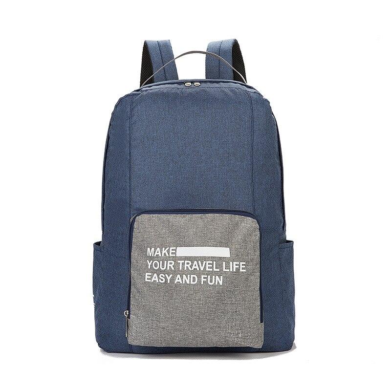 Мужские дорожные сумки, водонепроницаемая нейлоновая складная сумка для ноутбука, вместительная сумка для багажа, дорожные сумки, портативные женские сумки - Цвет: blue 3