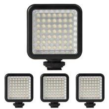 4X Mini DC 49 3 v 5.5 w LED Painel de Luz Da Câmera de Vídeo Lâmpada 6000 k para Canon Nikon DSLR câmera Filmadora DV DVR