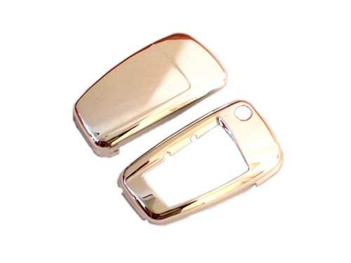 Silver Plated Chrome Remote Flip Key Cover Case Skin Shell Cap Fob Protection Hull S Line for Audi A3 A4 A6 Q5 Q7 TT R8