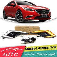 LED DRL For Mazda 6 Atenza 2017 2018 Daytime Running Light Driving Fog Lamp With Turn Signal