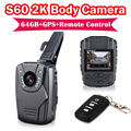 Envío libre! 2 K S60 Cuerpo Personal de Seguridad y de Policía Cámara de Visión Nocturna Record 64 GB + GPS + Ambarella A7LA50 remoto