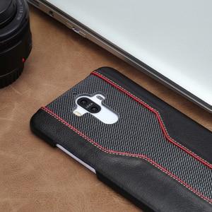 Image 4 - Carcasa de teléfono móvil wangcangli para Huawei Mate 9, funda de teléfono móvil avanzada personalizada de piel de vaca y textura de diamante, Funda de cuero