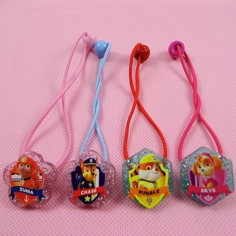 Children&baby girls novelty cartoon headwear elastic hair bands accessoires hair clips Cute dog Hair rope hairpin