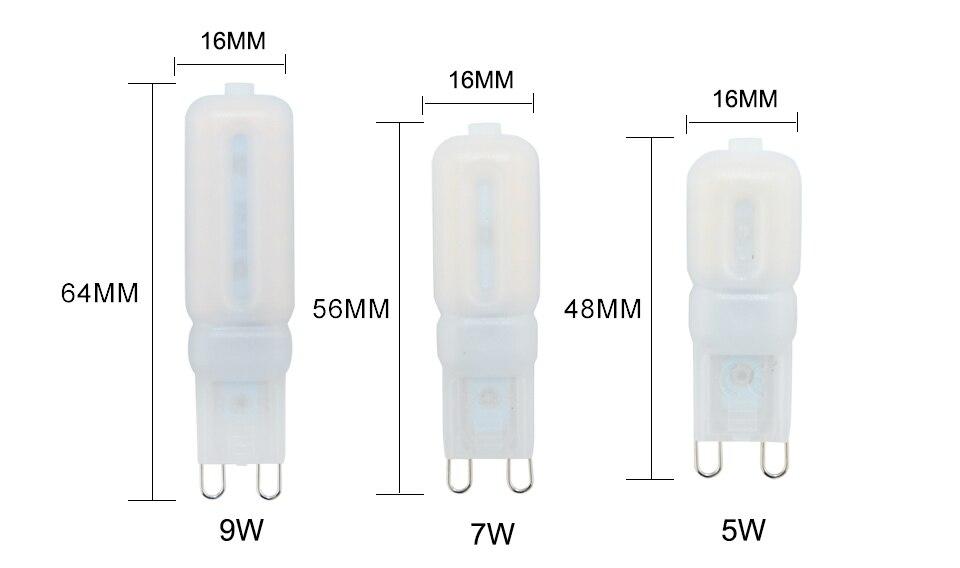 G9 LED Bulb Lamps 220V 110V LED G9 Dimmable 142232 LEDs Ampoule Bombillas LED Lamp Light Bulbs  (4)