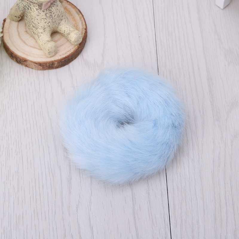 Meisje Haarband Kunstmatige Faux Fur Rubber Elastische Ring Touw Pluizige Stropdas Chouchou