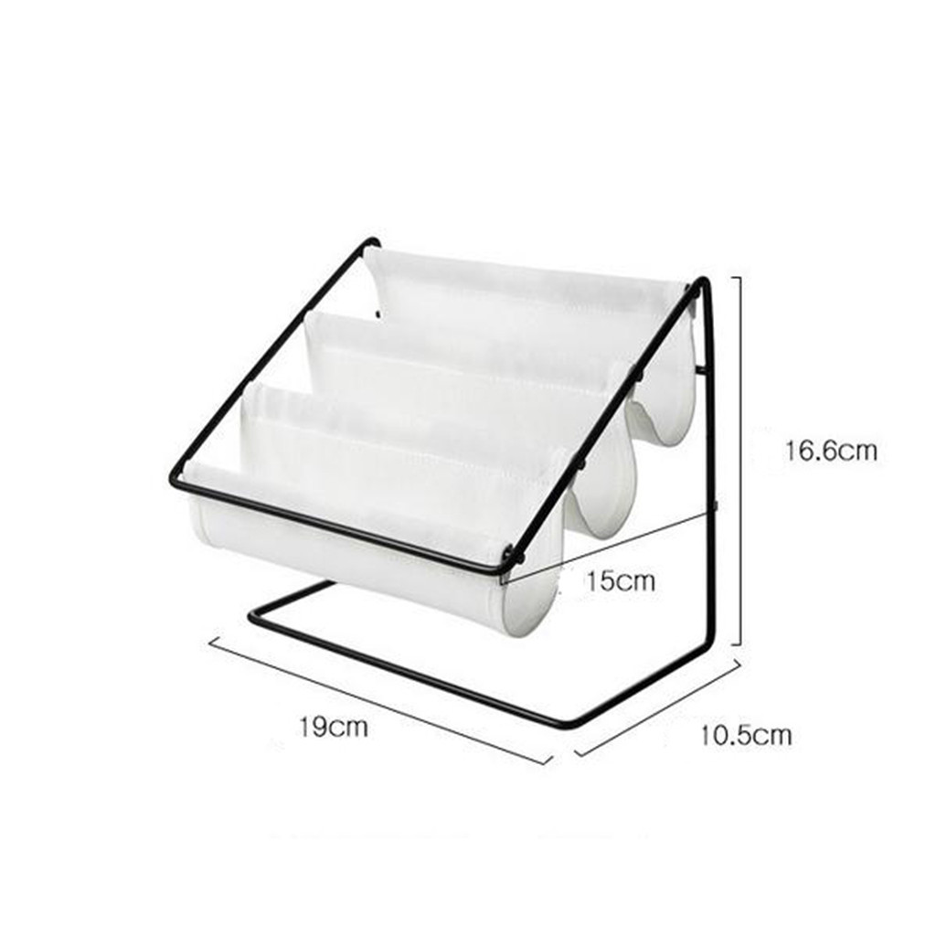 Image 5 - Desktop Wrought Iron Glasses Frame Household Debris Stationery Storage Rack Wall Housekeeper Accessory Hanging Pipe Hooks Box-in Storage Holders & Racks from Home & Garden