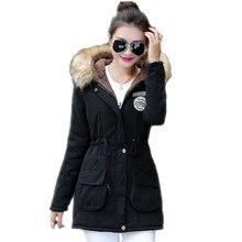 2016 New Long Parkas Female Womens Winter Jacket Coat Thickening Cotton Warm Jacket Womens Outwear Parkas Plus Size Fur Coat