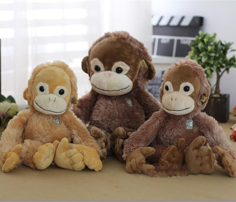 Plush toys The new big - eyed monkey orangutan gibbon children Stuffed toy birthday Christmas gift