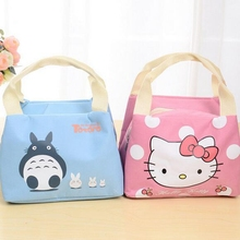 Girl Portable Cartoon Cute Hello Kitty Lunch Bag