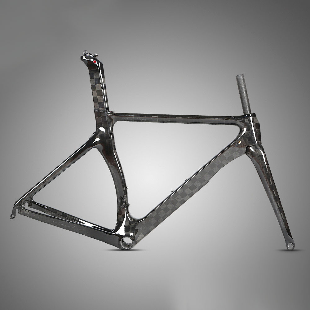 R3 700c Road Bike Frame Full Black Carbon Frame 18k Reduce Wind Resistance For Road Bicycle Racing Glossy Matte Processing