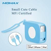 Momax выдвижной 80 см данных Lightning USB МФО кабели для iPad AIR зарядный кабель для Apple iPhone 5 5S SE 6 6 S плюс 7 Plus