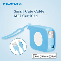 Momax Retractable 80cm Fast Data Lightning USB MFi Cables For IPad AIR Charging Cable For Apple