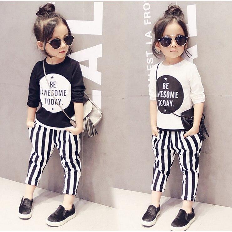 2-7Y, 2019 new baby tee shirts spring girls shirt letters children T-shirt kids casual long sleeve shirt toddler tee shirt,#2664
