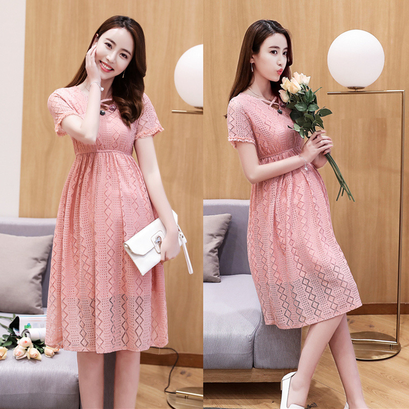 Summer Maternity Fashion Hollowed Out Dressess Pregnancy Organza Dress High Waist Clothing for Pregnant Women  Maternity ClothesSummer Maternity Fashion Hollowed Out Dressess Pregnancy Organza Dress High Waist Clothing for Pregnant Women  Maternity Clothes