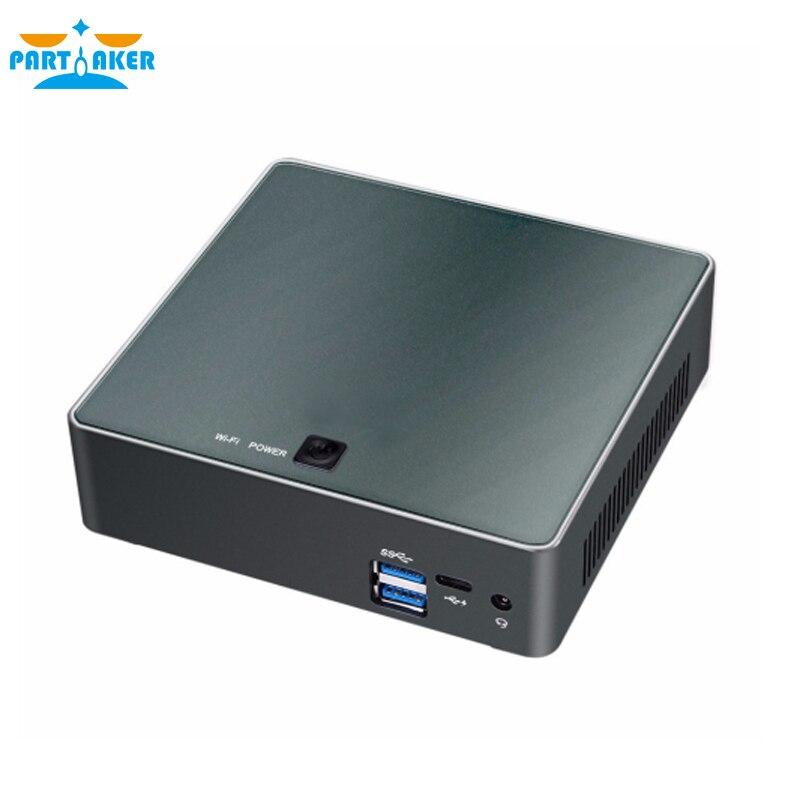 Новые мини-ПК 8th поколения Intel Core i7 8550U i5 8250U 4 ядра DDR4 Linux Win10 Pro X86 Мини компьютер с HDMI выходом Тип-c до 4 ГГц