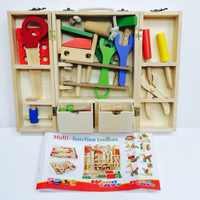 Montessori Baby Toys Wooden Maintenance Tool Set Educational Toys For Kids Nut Fitting Combination DIY Toys For Children Gift